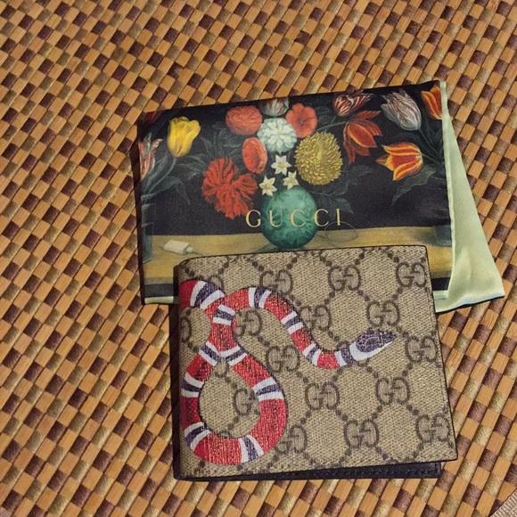 37cd94ab Gucci Bags | King Snake Print Gg Supreme Wallet | Poshmark